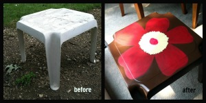 outdoor flower table