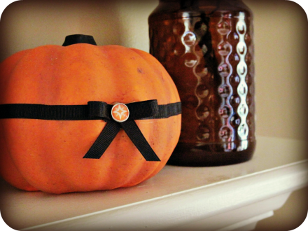 chevron Halloween mantle 2