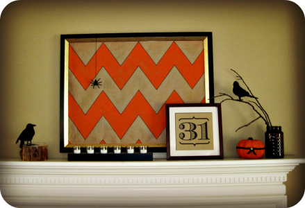 chevron Halloween mantle 5