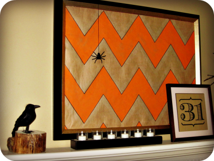chevron Halloween mantle 6