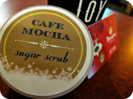 diy cafe mocha sugar scrub