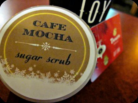 diy cafe mocha sugar scrub